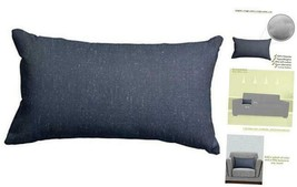 "Majestic Home Goods Navy Wales Indoor Small Throw Pillow 20"" L x 5"" W x ... - $44.56"