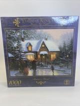Thomas Kinkade Puzzle Skater's Pond 1000 Pieces Sealed Christmas Winter 27x20 - $19.79