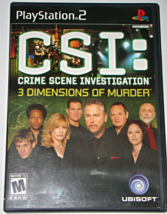 Playstation 2  UBISOFT- CSI: 3 DIMENSIONS OF MURDER (Complete with Instr... - $6.50