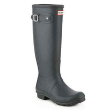 HUNTER Original Tall Waterproof Rain Boot, Black, Sz 10 (uk 8) - $98.00