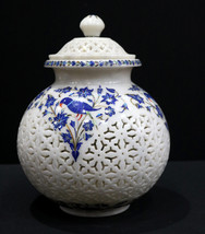 Traditional Design Marble Inlay Flower Pot for Home and Office Decor Pie... - $885.00