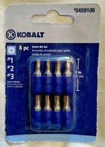 "Kobalt 1873536 8-Pack 1"" Assorted Square Drive Screw Bits - $1.98"