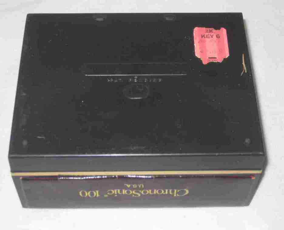 "Great 5"" X 4"" Chronosonic 100 Watch BOX Only And Instructions"