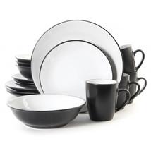 Vivendi 2 Tone 16pc Dinnerware Set Black/White - $75.67