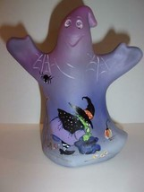 Fenton Glass Purple Spring Clean Witch Halloween Ghost Figurine LE #2/24... - $251.72