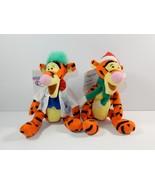 "Disney Store Winnie the Pooh Tigger Scientist & Santa 9"" Bean Bag Plush ... - $9.49"