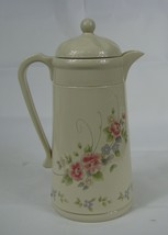 Pfaltzgraff Tea Rose Pattern Thermal Coffee Carafe  Pot Pitcher - $15.83