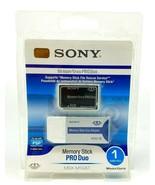 Sony Memory Stick Pro Duo 1GB (MSX-M1GST) + Reader Brand New - $29.69