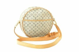 LOUIS VUITTON Monogram Mini Jeanne GM Shoulder Bag Blue M92000 Auth 10792 - $360.00