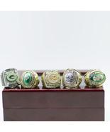 Replica super bowl championship rings 5pcs ring sets 1965 1966 1967 1996 2010 green 10 thumbtall