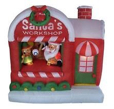 LB 5' Inflatable Santa's Workshop Lighted Christmas Yard Art Decoration - €98,75 EUR