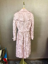 100% AUTH NEW BURBERRY PINK LACE LADIES TRENCH COAT JACKET image 3
