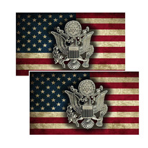American Flag US Army Insignia Decals Pack Of Two - $4.54
