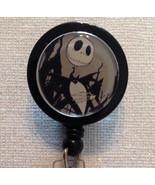 Jack Skellington Badge Reel Id Holder Disney Alligator Clip Black Handma... - $8.99