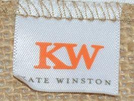 Kate Winston Brand Brown Burlap Monogram Black White N Garden Flag image 4