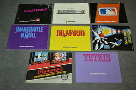 Nintendo NES: Lot of 8 [Instruction Books Manuals ONLY] c - $18.00