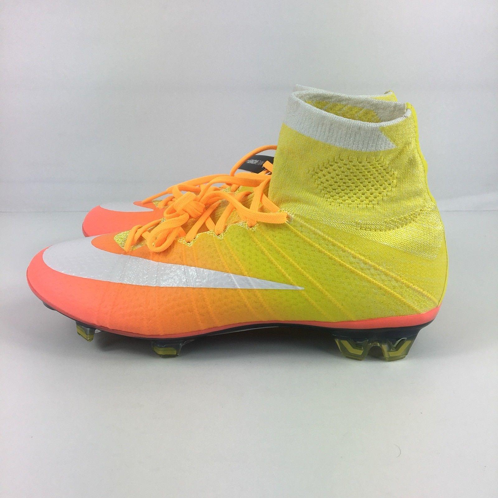 04313c843dd3 Nike Womens Mercurial Superfly FG ACC Soccer Cleats Mango (718753 800) SZ  7.5