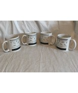 SAKURA  Port of Call SERENADE Coffee Cup/Mug Set of 4 EUC Navy Gray Whit... - $19.99