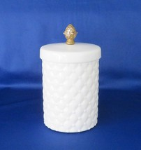 LE Smith  Canister / Jar, Boutique Line, Milk Glass - $15.00