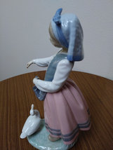 Rare Vintage Girl with Goose L.Ladro Daisa 1983 Retired Statue Figurine image 5