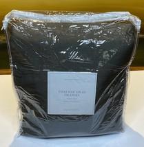 Restoration Hardware Thai Silk Solid Drape French Pleat 46 x 84 Charcoal $775 - $349.99
