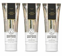 Bath & Body Works Fresh Sparkling Snow Moisturizing Body Wash 10 fl oz Set of 3 - $24.74