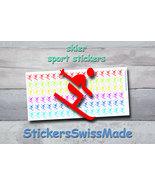 planner stickers    downhill skier    sport    rainbow colored sticker i... - $3.00+