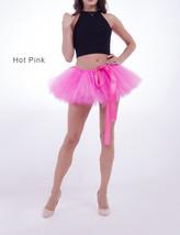 WOMEN MINI TUTU Skirt Drawstring Waist Solid Color Mini Petticoats Ballet Skirts image 7