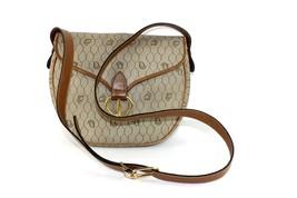 Auth Christian Dior logos Canvas Leather evening PM ladies shoulder bag... - $187.11