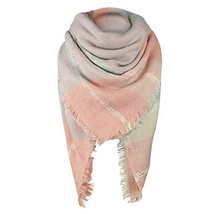 Zando Women's Fashion Blanket Scarf Fall Winter Scarf Classic Tassel Pla... - $12.86