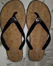 Michael Kors Signature Black Jelly Flip Flop Sa... - $21.99