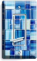 Blue Glass Tiles Look Single Gfi Light Switch Wall Plate Kitchen Bathroom Decor - $11.99