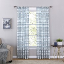 Mainstays Dash Curtain Window Panel Dash/Blue and White, Set of 2 - $19.79