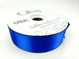 "BEAUTIFUL ROYAL BLUE OFFRAY 50 YD ROLL 1 1/2"" DFS WEDDING SATIN RIBBON F... - $14.95"