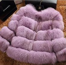 Women Winter fashion Designer Thick Faux Mink Coat image 12