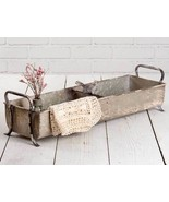 SongBird large Divided tin Tray in distressed Tin - $42.00