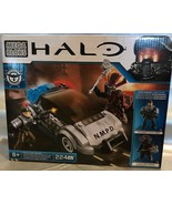 Mega Bloks Halo POLICE CRUISE STANDOFF Building Set NMPD Trooper Brute C... - $25.19