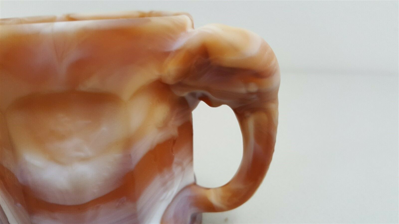 Imperial IG CARAMEL CHOCOLATE Slag Child's Elephant Handle Nursery Rhyme Mug