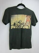 2012 Harley Davidson S T-shirt Motorcycle Biker MDA BLACK N BLUE BALL Small - $12.86
