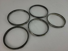 """Embroidery Hoop Lot of 5+ Metal Cork Lined Round 5"""" 6"""" 7"""" Spring Tension... - $28.95"""