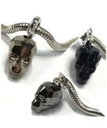 Swarovski European Fit Bracelet Charm Stainless BeCharmed Pave Skull Pen... - $16.05