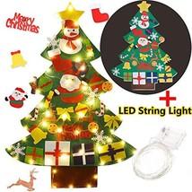 Coxeer Felt Christmas Tree, 3.28FT DIY (Xmas Felt Tree With Led String L... - $30.59