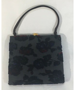 Vintage Joseph Shoes Ladies Handbag Velvet - $112.22