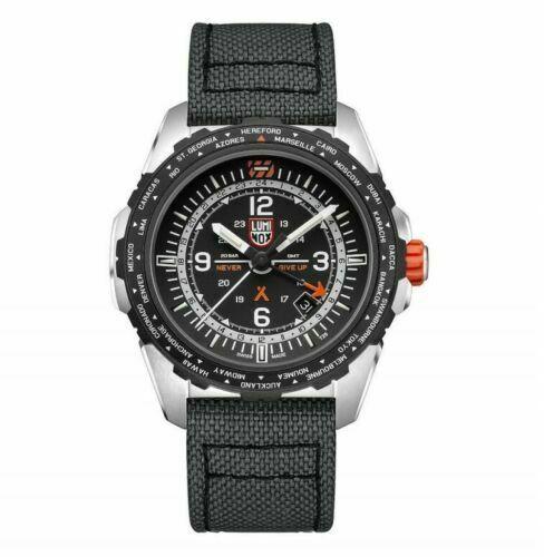 Luminox Bear Grylls Air GMT XB.3761 45mm Black Canvas Swiss Quartz Men's Watch