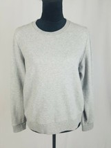 J.Crew women S sweatshirt color block tied striped back two material lon... - $29.70