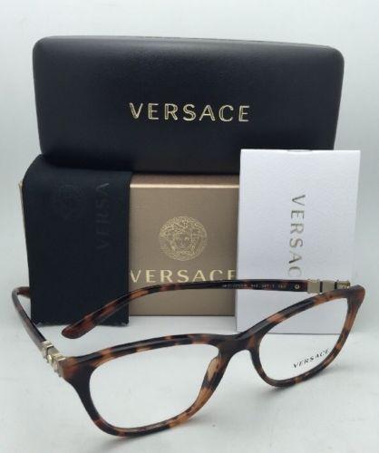 c8dde8096ac New VERSACE Eyeglasses 3213-B 944 52-17 140 Havana Tortoise Frames with  Crystals