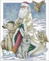 Polar Bear Santa Cross Stitch Pattern LOOK - $4.95