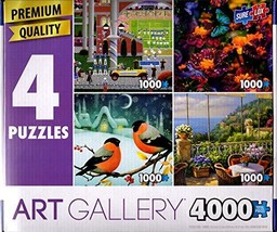 1000 pc. 4-in-1 Premium Quality Puzzle Multipack - $49.98