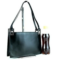 Auth GUCCI Vintage Black Leather Tote Shoulder Bag Handbag Italy 001.376... - $127.71