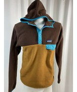 Vintage Patagonia Synchilla Snap-T 2 Toned Fleece Hoodie, Men's S, Brown... - $94.99